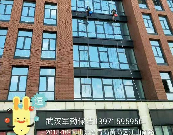 山东青岛建筑高墙清洗省外案例