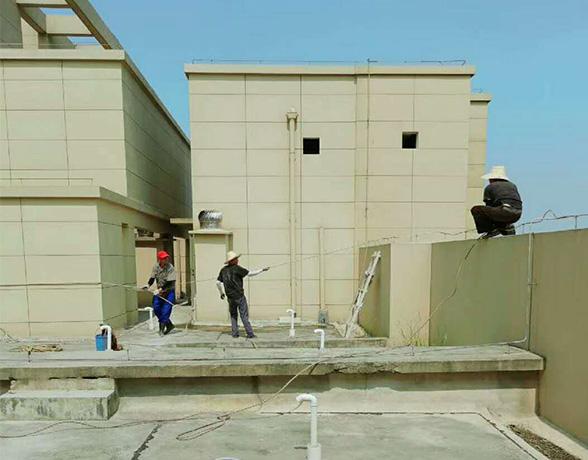 工程案例-汉阳外墙维修清洗施工